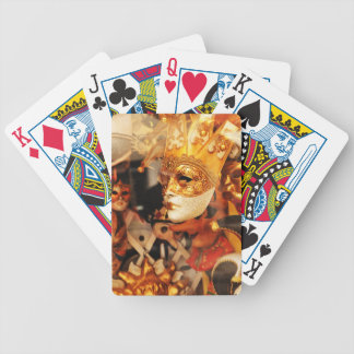 Venetian masks bicycle playing cards
