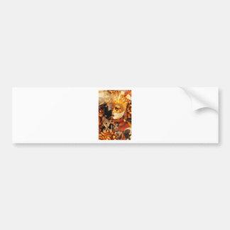 Venetian masks bumper sticker