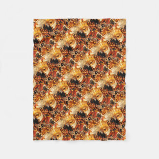 Venetian masks fleece blanket