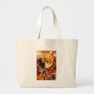 Venetian masks large tote bag