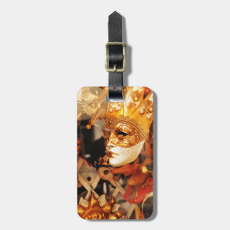 Venetian masks luggage tag