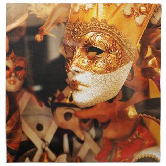 Venetian masks napkin