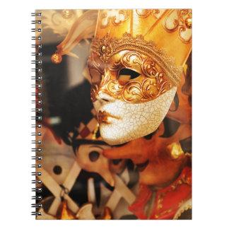 Venetian masks notebook