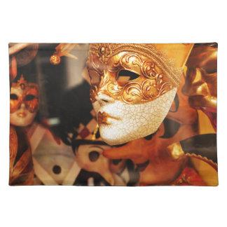 Venetian masks placemat