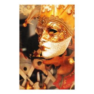 Venetian masks stationery