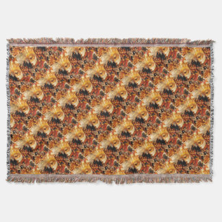 Venetian masks throw blanket