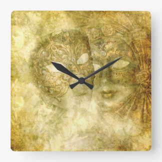 Venetian Masks Wall Clock