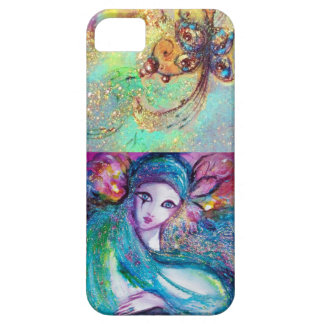 VENETIAN MASQUERADE /MASK IN BLUE iPhone 5 CASE