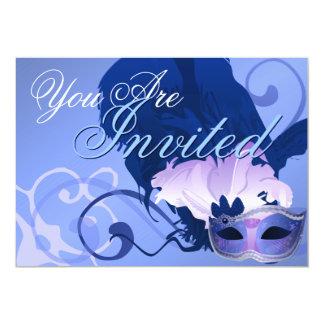 """Venetian Masquerade Mask Invitation 5"""" X 7"""" Invitation Card"""
