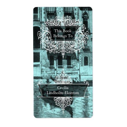 Venetian Monotone in Shades of Aqua & Black