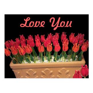 Venetian Murano Glass Roses Postcard