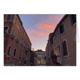 Venetian Sunset Card