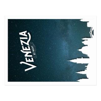 Venezia by Night - postcard