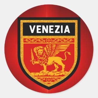 Venezia Flag Round Sticker