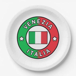Venezia Italia Paper Plate