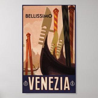 Venezia Italy, BELLISSIMO Poster