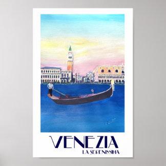 Venezia La Serenissima Retro Poster