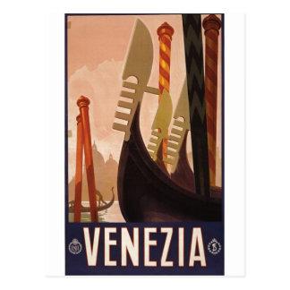 Venezia travel poster 1920 Venice, Italy Postcard