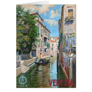 Venezia Venice Italy, Vintage Travel Poster Card