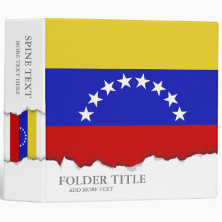 Venezuala Flag Binders