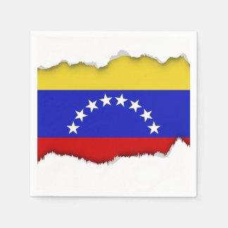 Venezuala Flag Paper Napkins