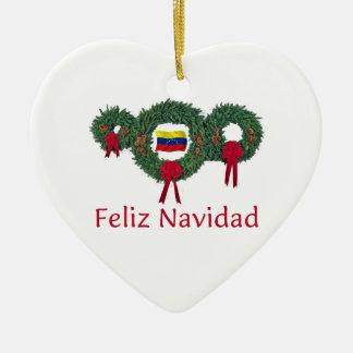 Venezuela Christmas 2 Ceramic Ornament