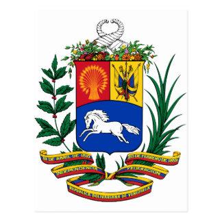 Venezuela Coat Of Arms Postcard