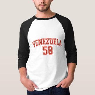 Venezuela Country Code Basic 3/4 Sleeve Raglan T-Shirt