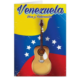 Venezuela Dios y Federación Travel poster Card