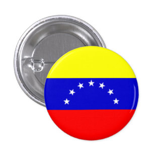 Venezuela Flag 1 Inch Round Button
