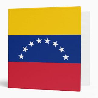 Venezuela Flag 3 Ring Binder