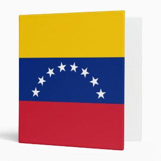 Venezuela Flag 3 Ring Binders