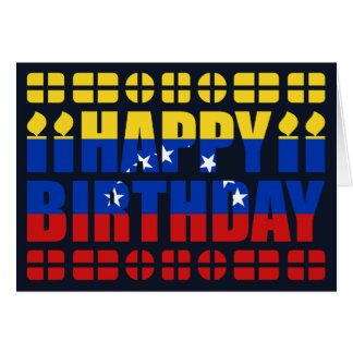 Venezuela Flag Birthday Card