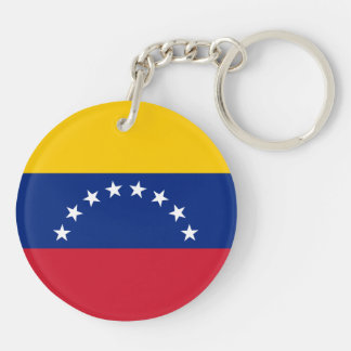 Venezuela Flag Double-Sided Round Acrylic Keychain