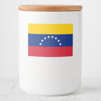 Venezuela Flag Food Label
