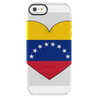 Venezuela Flag Heart Clear iPhone SE/5/5s Case