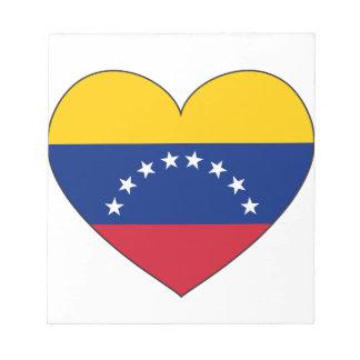 Venezuela Flag Heart Notepad