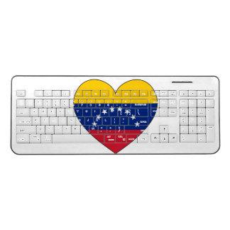 Venezuela Flag Heart Wireless Keyboard