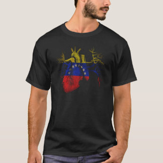 Venezuela Flag in Real heart T-Shirt