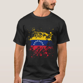 Venezuela Flag Ink Splatter T-Shirt