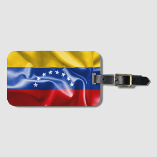 Venezuela Flag Luggage Tag with Business Card Slot