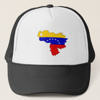 Venezuela Flag Map full size Trucker Hat