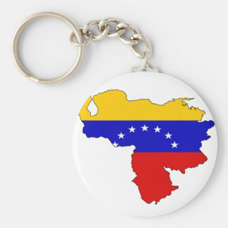Venezuela flag map keychain