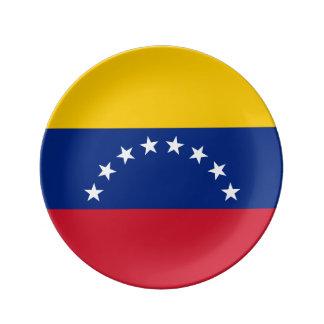 Venezuela Flag Porcelain Plate