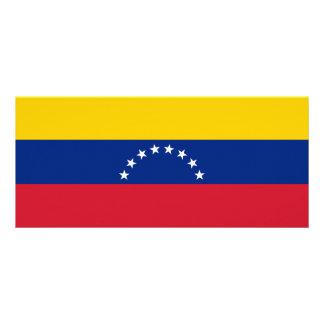 Venezuela Flag Rack Card