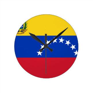 Venezuela Flag Round Clock
