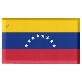 Venezuela Flag Table Card Holder