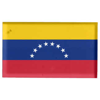 Venezuela Flag Table Card Holders