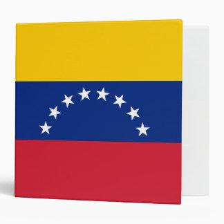 Venezuela Flag Vinyl Binder