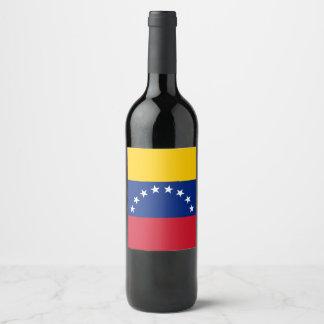 Venezuela Flag Wine Label